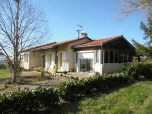 Single storey (115m²) with pool and views